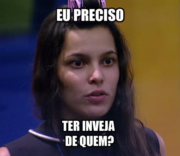 Emilly afirma que não precisa ter inveja de ninguém (Foto: TV Globo)