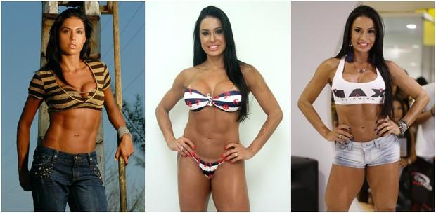 A evolução de Gracyanne Babrosa (Foto: Reprodução)