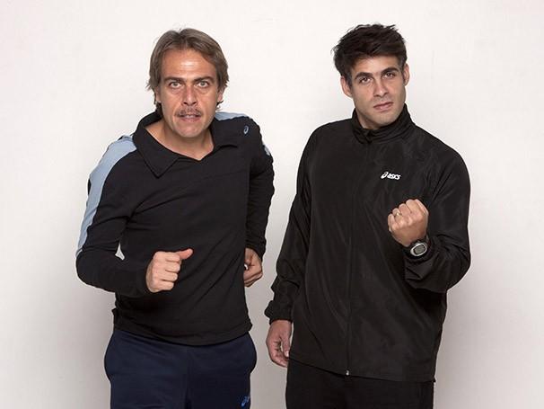 Anderson Muller e Raoni Carneiro tiveram preparação física para a maratona no palco (Foto: Desirée do Valle)
