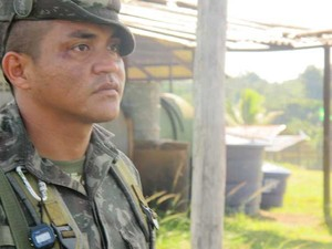 Soldado indígena já atuou em três pelotões de fronteira (Foto: Tahiane Stochero/G1)