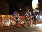 Ciclistas pedalam até Trindade para levar doação e participar de missa