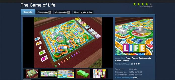Baixe um dos jogos disponíveis no Workshop para aproveitar no Tabletop (Foto: Reprodução/Felipe Vnha)