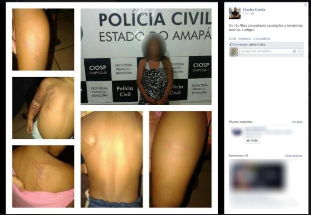 Mãe foi preso e filhos levados ao Conselho Tutelar, em Oiapoque (Foto: Reprodução/Facebook)