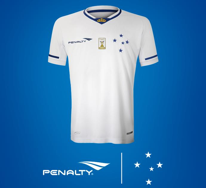 Camisa 2 do Cruzeiro, branca, da penalty, que será usada pelo time em 2015 (Foto: Cruzeiro/Divulgação)