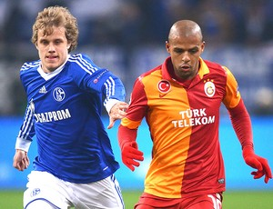 Felipe Melo na partida do Galatasaray contra o Schalke (Foto: Getty Images)