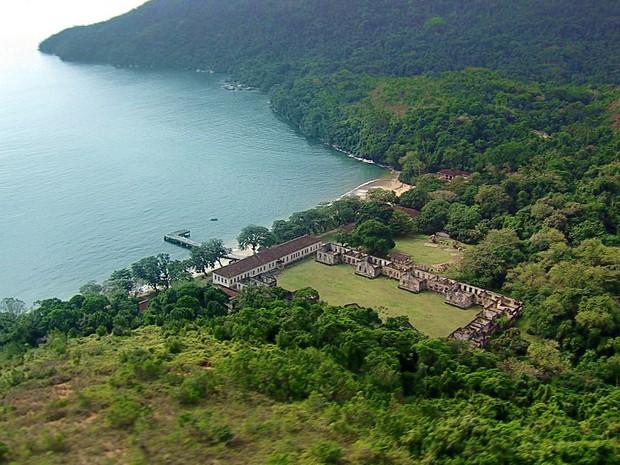 Ilha Anchieta em Ubatuba (Foto: Reprodução/TV Vanguarda)