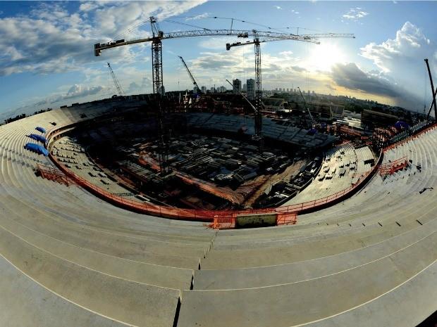 Arena da Amazônia está com 54% das obras completas em Manaus (Foto: Chico Batata/Agecom)