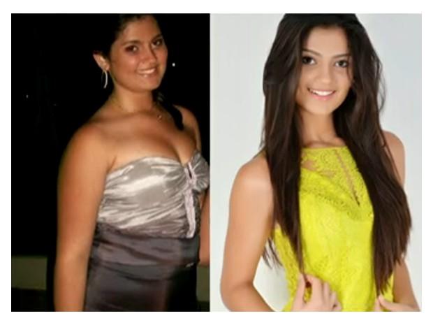 Antes e depois de Gabriele (Foto: Arquivo Pessoal)