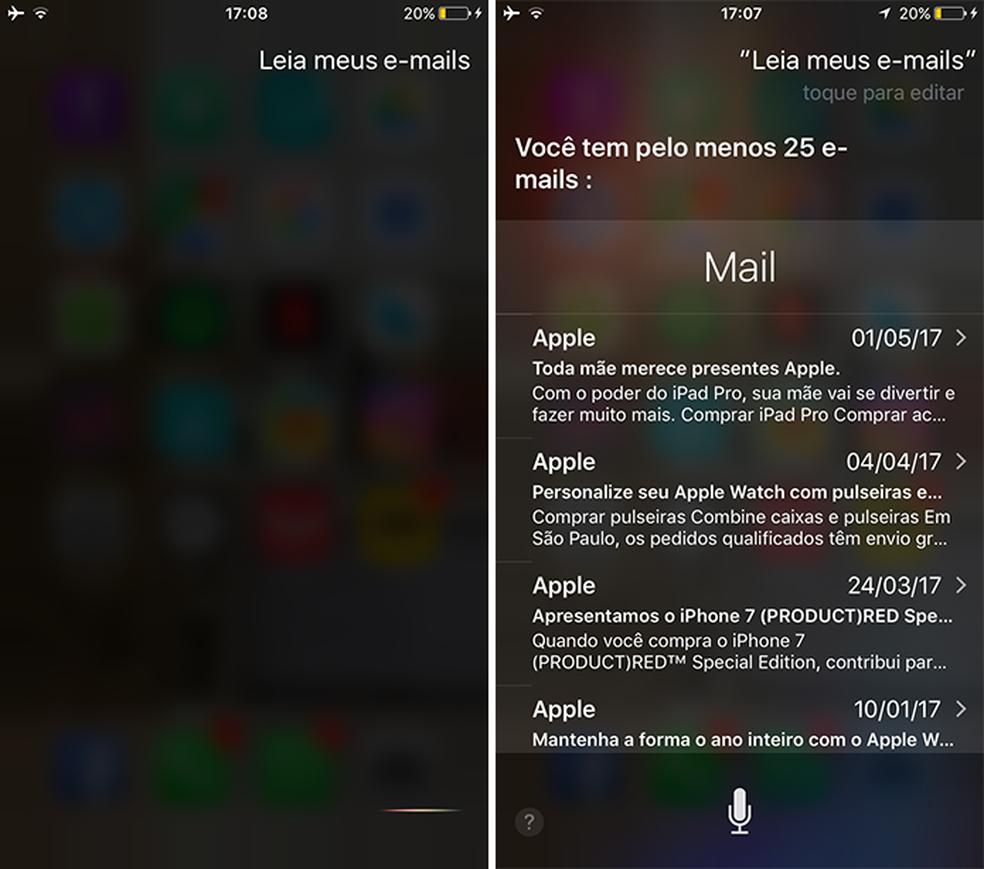 iPhone: use a Siri para ouvir mensagens (Foto: Reprodução/Paulo Alves)