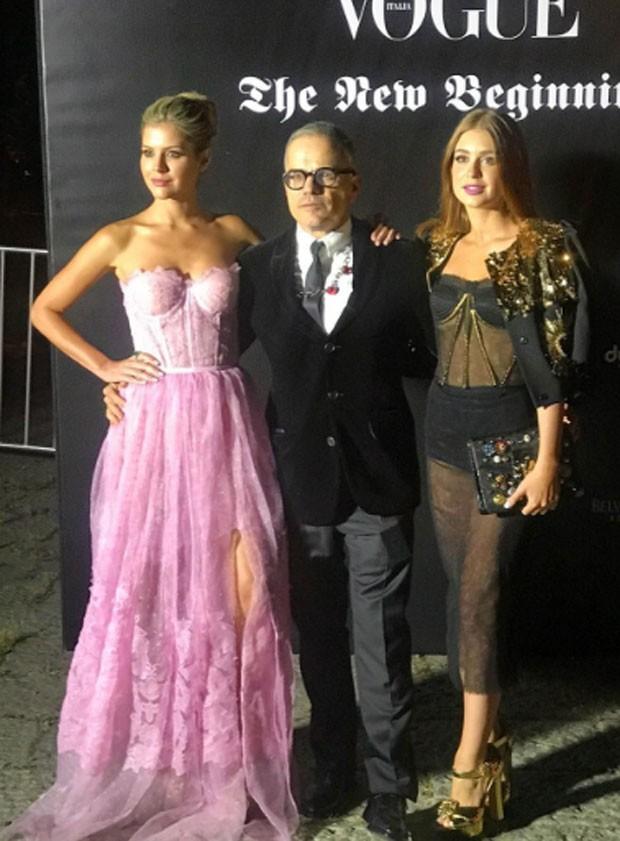 Lala Rudge, Giovanni Bianco e Marina Ruy Barbosa (Foto: Reprodução)