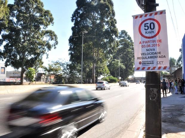 Avenidas Jacu-Pêssego e Aricanduva terão os limites de velocidades reduzidos para 50 km/h a partir desta segunda-feira (3) (Foto: Aglecio Dias/Código 19/Estadão Conteúdo)