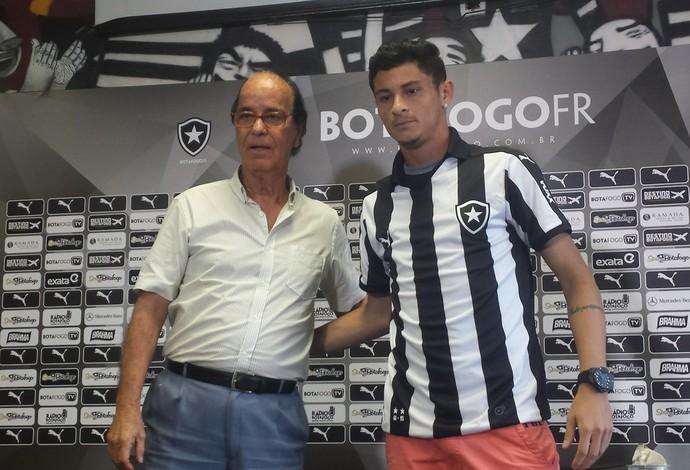 Antônio Lopes e Diogo Barbosa Botafogo (Foto: Thiago Lima)