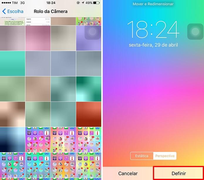 iOS pode ter pastas redondas a partir de fotos baixadas (Foto: Reprodução/Elson de Souza)