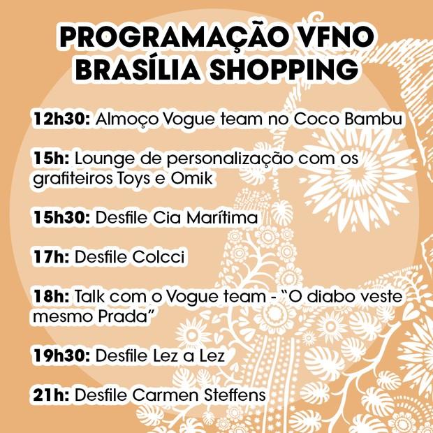 Confira a programação do evento (Foto: Vogue Brasil)