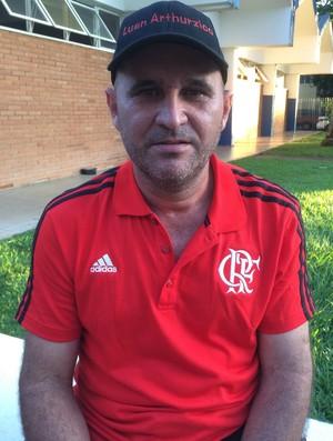 Lúcio Alves Ferreira, o Ziquinho, torcedor do Flamengo (Foto: Guilherme Gonçalves/GloboEsporte.com)