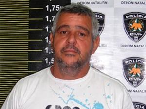 Sandoval Carlos de Lucena, o suspeito (Foto: Divulgação/Polícia Civil do RN)