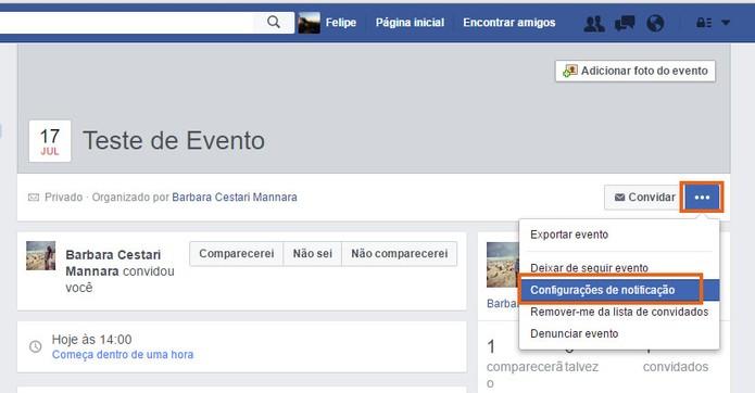 Desative as notificações de eventos privados no Facebook (Foto: Reprodução/Barbara Mannara)