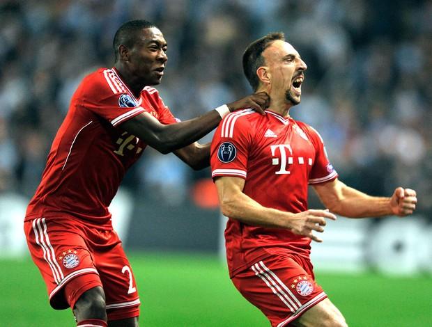 Ribery comemoração jogo Bayern de Munique e Manchester City (Foto: AP)