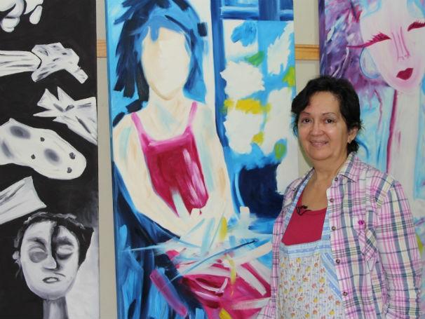 A oficina de pintura do Colégio Almirante Tamandaré foi criada pela professora Peter Cohen (Foto: Divulgação/Alessandra de Paula)