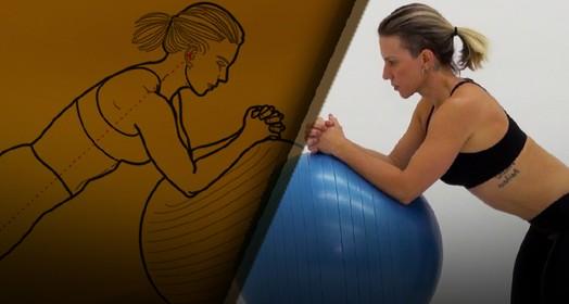 Prancha  na bola (Eu Atleta | Arte | fotos: arquivo pessoal)