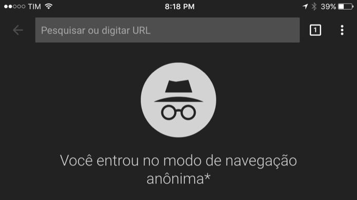 Aprenda a iniciar o modo de navegação privada do Chrome no celular (Foto: Reprodução/Helito Bijora)