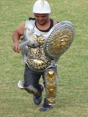 Mascote Alto Santo Gladiador Coliseu (Foto: Juscelino Filho)