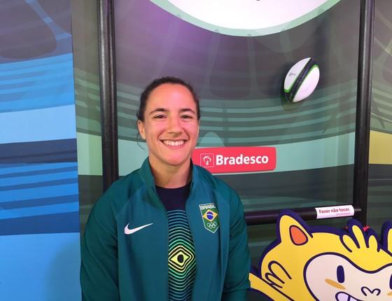 A jogadora de rugby da Seleção Brasileira Izzy Cerullo (Foto: Samantha Lima)