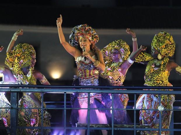 Daniela Mercury, banda Ayê e rainhas do Ilê Ayê levam samba reggae para o circuito Barra-Ondina, em Salvador (Foto: Wesley Costa / AgNews)