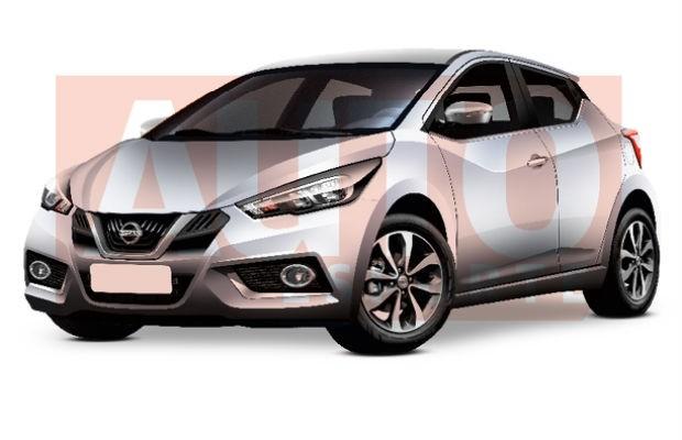 Projeção da quinta geração do Nissan March (Foto: Autoesporte)