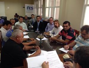 Arbitral da Série B do Campeonato Capixaba 2015 (Foto: Divulgação/FES)