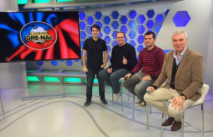 Central Gre-Nal Sexta edição Diego Guichard Marcelo Pires e Ramiro Ruschel (Foto: Leo Urnauer/GloboEsporte.com)