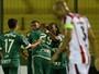 Palmeiras estreia na Libertadores com empate com o River. Veja os lances
