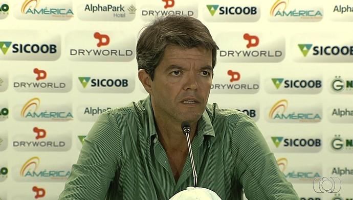 Felipe Ximenes, diretor de futebol do Goiás (Foto: Reprodução/TV Anhanguera)