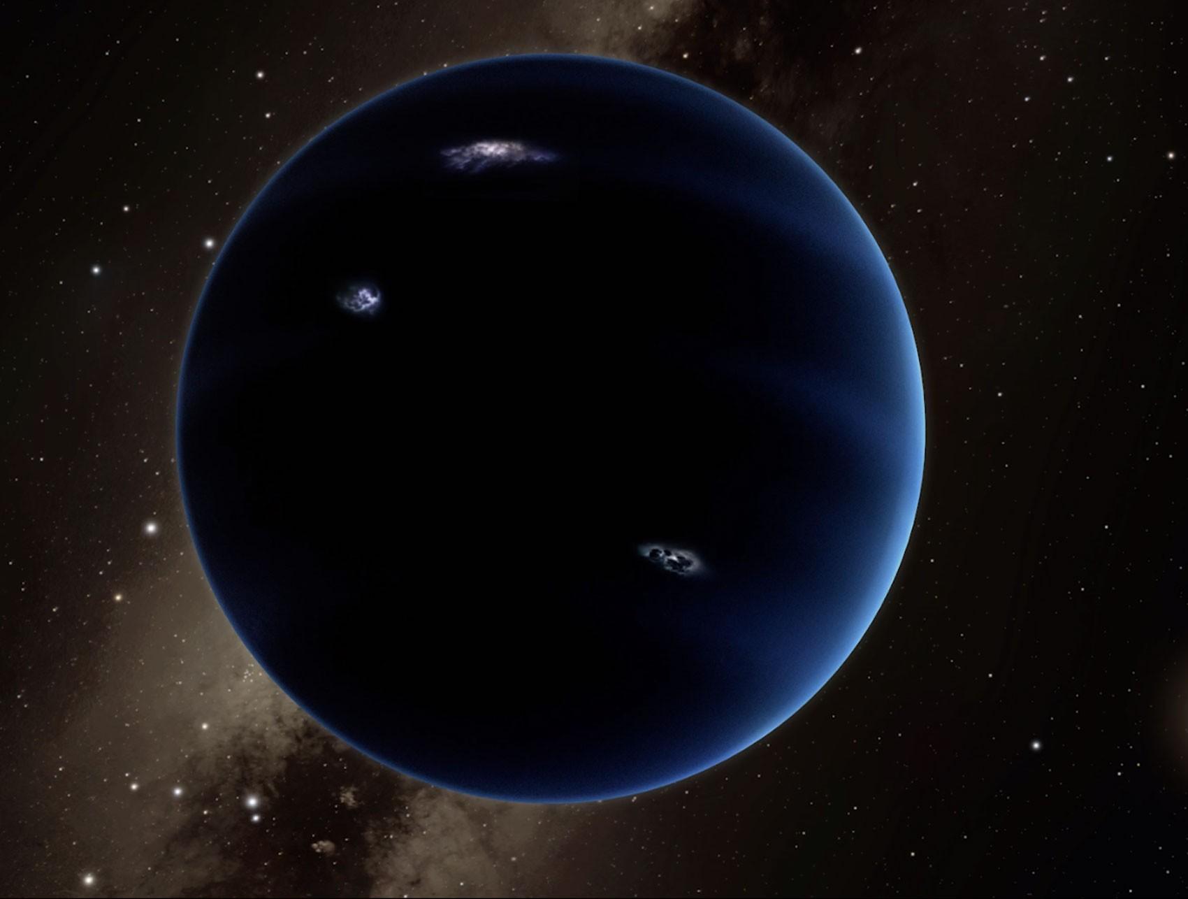 Concepção artística de como seria o nono planeta (Foto: Reprodução/Youtube/Caltech)