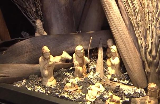 Peças vindas de Jerusalém para o Santuário do Valongo (Foto: Reprodução/TV Tribuna)
