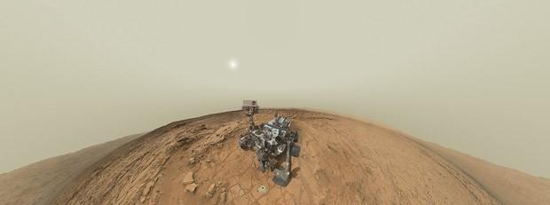 Autorretrato do robô Curiosity divulgado no dia 22 (Foto: Nasa/Divulgação)