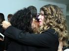 Chico Buarque, Mateus Solano e Patrícia Pillar vão ao camarim do show da Gal Costa, no Rio de Janeiro