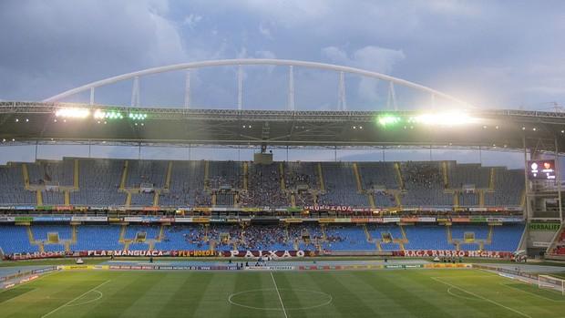 Engenhão vazio Flamengo x Vasco (Foto: Janir Junior / Globoesporte.com)