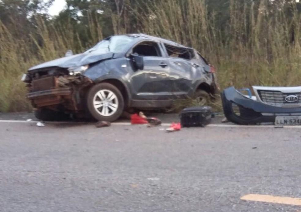 Acidente aconteceu na TO-080 entre Divinópolis e Marianópolis do Tocantins (Foto: PM/Divulgação)