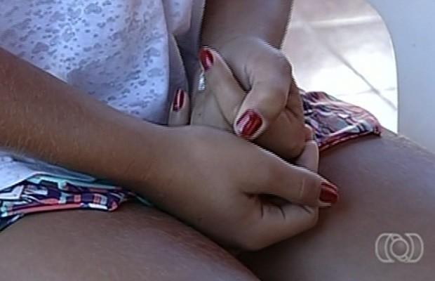 Adolescente diz que foi agredida por vereador, em Caldas Novas, Goiás (Foto: Reprodução/ TV Anhanguera)
