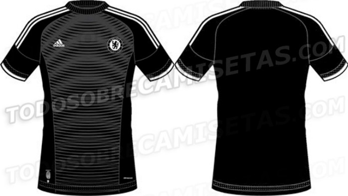 Modelos básicos  site divulga desenho dos uniformes do Chelsea para ... 28f58df0e333c
