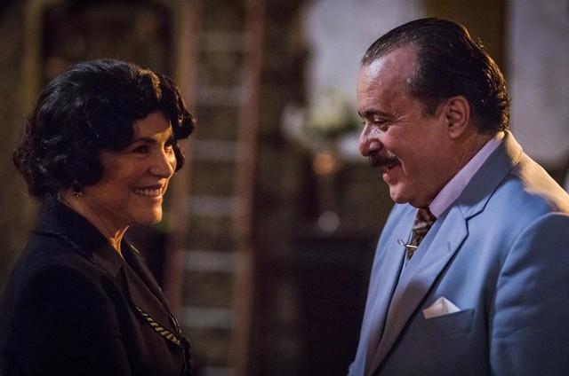 Regina Duarte e Tony Ramos gravam 'Tempo de amar' (Foto: TV Globo / Paulo Belote)