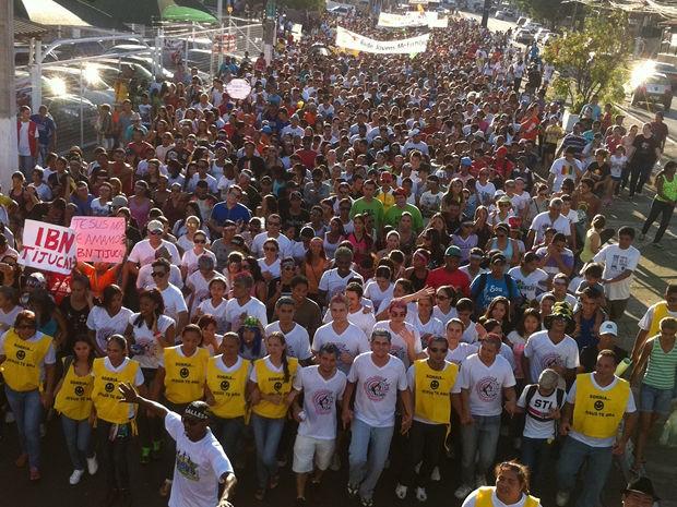 Marcha para Jesus reuniu multidão em Cuiabá (Foto: Erickson Resende/TV Centro América)