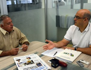 Edvaldo Biguá e Fernando D'Avila conversam sobre a rodada da Superliga (Foto: Divulgação/Paulo de Tarso Jr)
