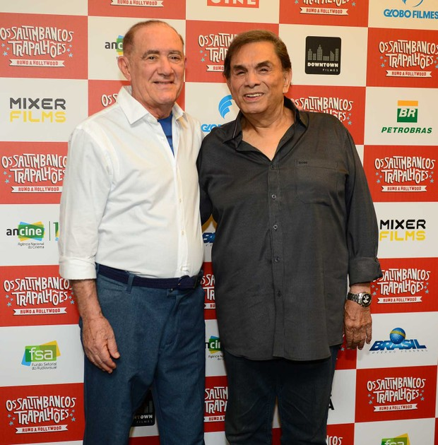 Renato Aragão e Dedé Santana  (Foto: Francisco Cepeda/Agnews)