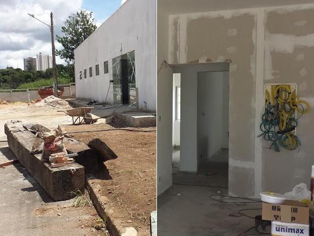 Obras realizadas no galpão onde vai funcionar o primeiro hospital veterinário público do DF (Foto: Isabella Formiga/G1)