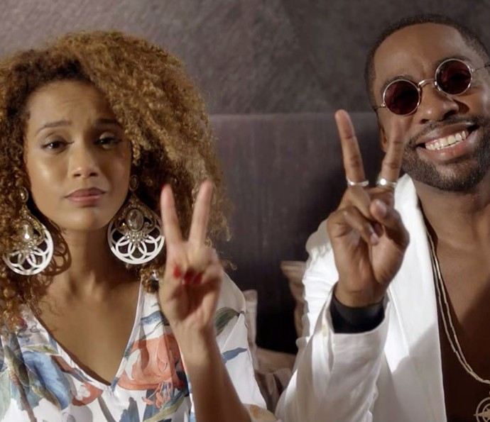 O casal lança o movimento 'Peace Yourself' (Foto: TV Globo)