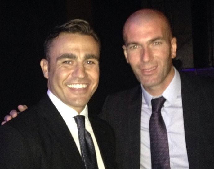 Cannavaro e Zidane sorteio da Copa 2014 (Foto: Reprodução / Instagram)