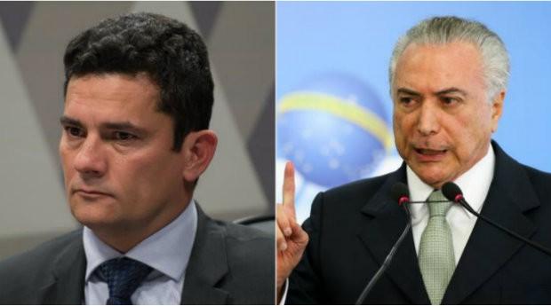Sergio Moro e Michel Temer serão condecorados pelo Exército (Foto: Reprodução/Agência Brasil)
