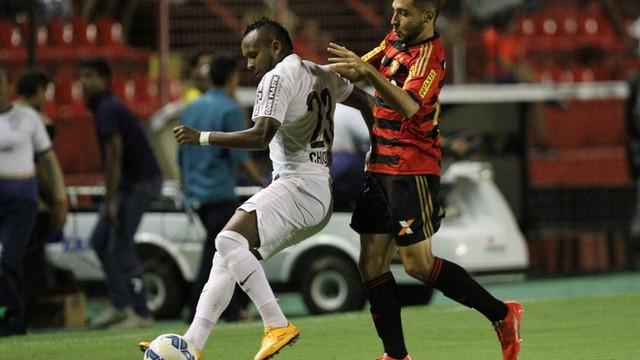Sport Santos Copa do Brasil Futebol (Foto:  Antônio Carneiro/Pernambuco Press)